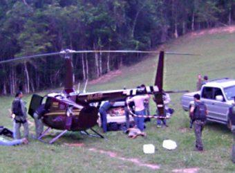 helicoptero perrela com droga