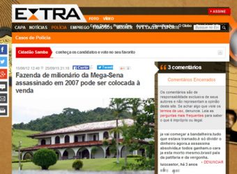 Fazenda do Lula no Extra