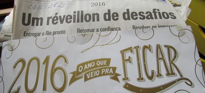 O Globo edição de 01.01.2016
