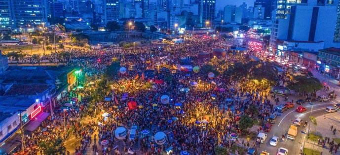 manifestação greve largo da batata Foto Ricardo Stuckert