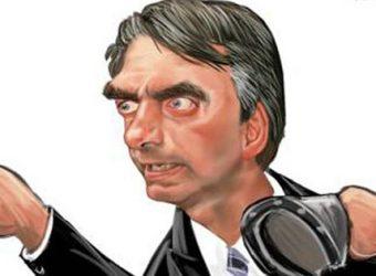 Bolsonaro agredindo
