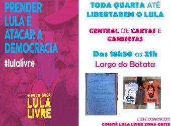 Toda Quarta – Prender Lula é Atacar a Democracia / SP
