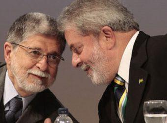 Lula e Celso Amorim na Fiesp