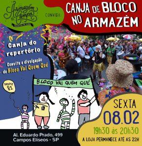 08/02 – Canja de Bloco no Armazem / SP