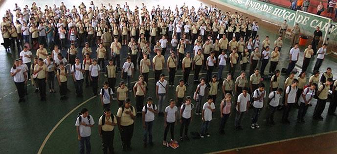 militarização escola militar