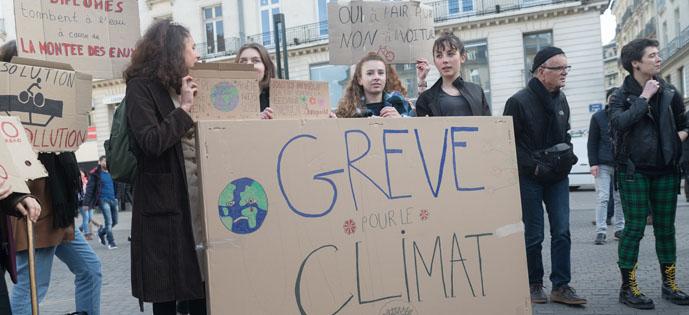 Manifestação de estudantes na França