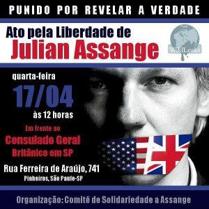 17/04 – Ato pela Liberdade de Assange / SP