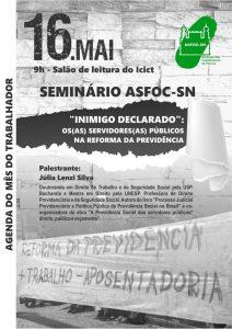 16/05 – Seminário ASFOC – SN