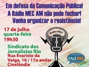 17/07 – Em Defesa da Comunicação Pública / RJ