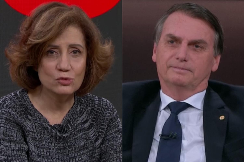 Miriam Leitão e Bolsonaro