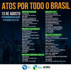 13/08 – Atos Por Todo o Brasil
