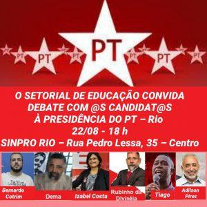 22/08 – Educação: Debate com Candidatos PT Rio