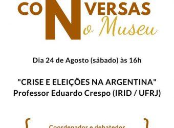 """24/08 – Debate """"Crise e Eleições na Argentina"""" / Paquetá"""
