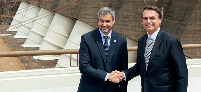 Bolsonaro e Mario Abdo Benitez Paraguai
