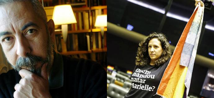 Monica Benício e Leonardo Padura
