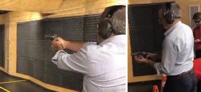 Weintraub atirando