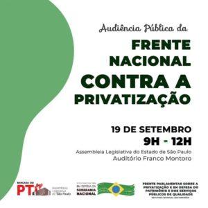19/09 – Frente Nacional contra a Privatização / SP