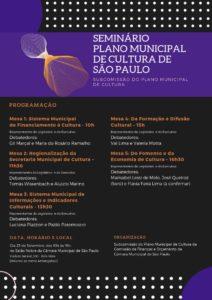 23/09 – Semminário Plano Municipal de Cultura de São Paulo / SP
