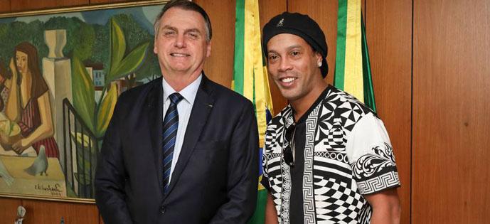 Bolsonaro e Ronaldinho
