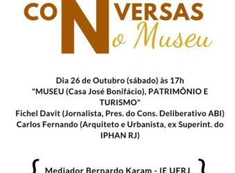 26/10 – Conversas no Museu com Fichel Davit e Carlos Fernando – Paquetá