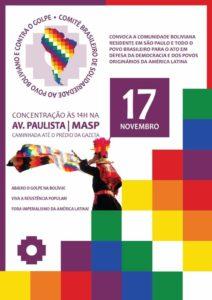 17/11 – Ato em Defesa da Democracia e dos Povos Sul americanos / SP