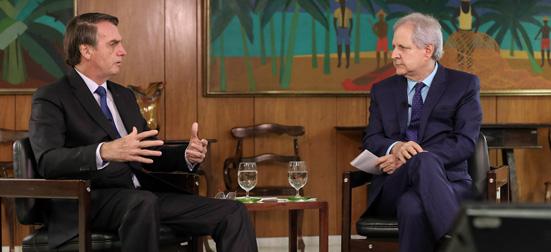 Augusto Nunes e Jair Bolsonaro