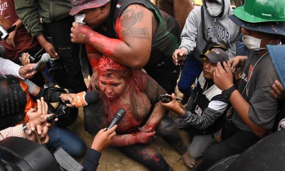 Bolívia agressão a mulher