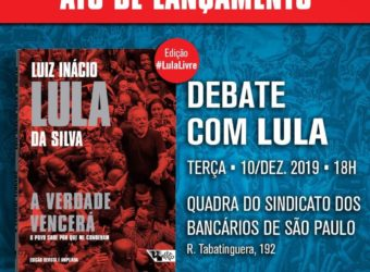 10/12 – Lançamento do Livro Lula a Verdade Vencerá / SP
