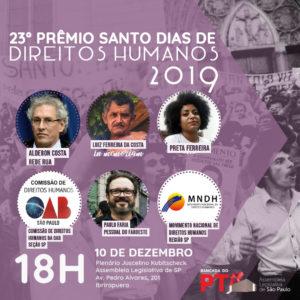 10/12 – 23º Prêmio Santo Dias de Direitos Humanos / SP