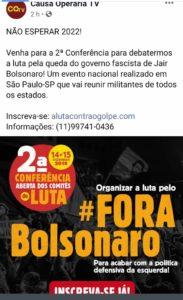 14-15/12 – 2ª Conferência Aberta dos Comitês de Lula / SP