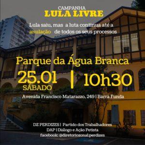 25/01 – Campanha Lula Livre / SP