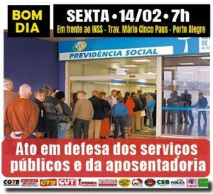 14/02 – Aro em Defesa dos Servidores Públicos Aposentados / POA