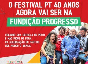 de 07 a 09/02 – Festival PT 40 Anos / RJ