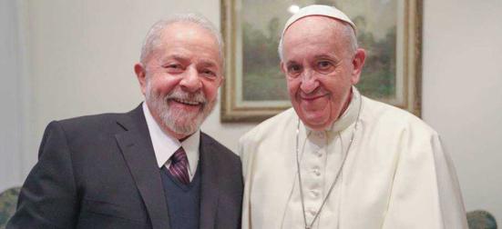 Lula e Papa Francisco