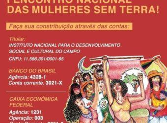 Apoie a realização do I Encontro Nacional das Mulheres Sem Terra