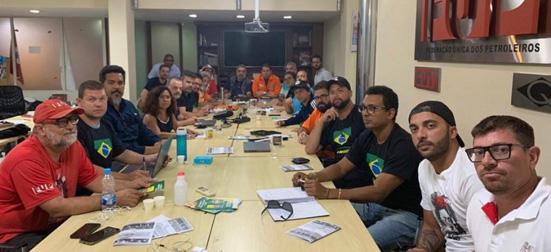 petroleiros greve reunião