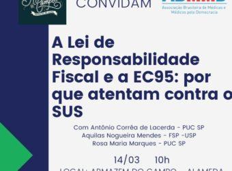 13/03 – ABMMD Convida para Pelstra sobre o SUS / SP
