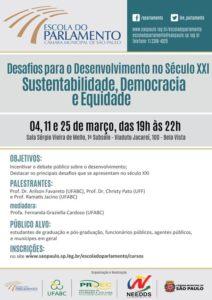 04/03 – Desafios para o Desenvolvimento no Século XXI / SP