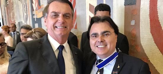 Bolsonaro e Luis Roberto Lorenzato