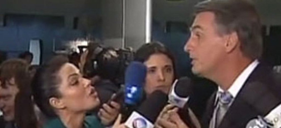 Bolsonaro imprensa mulher