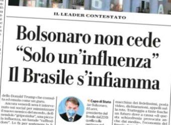 Coronavírus bolsonaro Jornal La República Itália 2