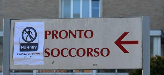 Coronavirus Italia Pronto socorro