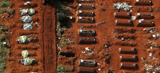 Coronavirus sepultamentos cemitério