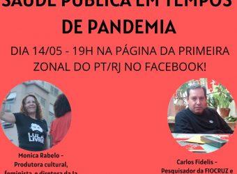 14/05 – Saúde Pública em Tempos de Pandemia / Live no Facebook