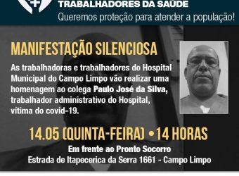 14/05 – Pela vida. Pela Proteção dos Trabalhadores da Saúde