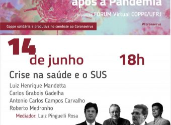14/06 – Forum Virtual: O Brasil após a Pandemia