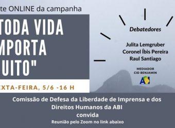 05/06 – Toda Vida Importa Muito – Debate On Line